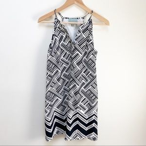 ANTHRO skies are blue black and white dress XS